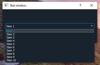 Windows QComboBox screengrab