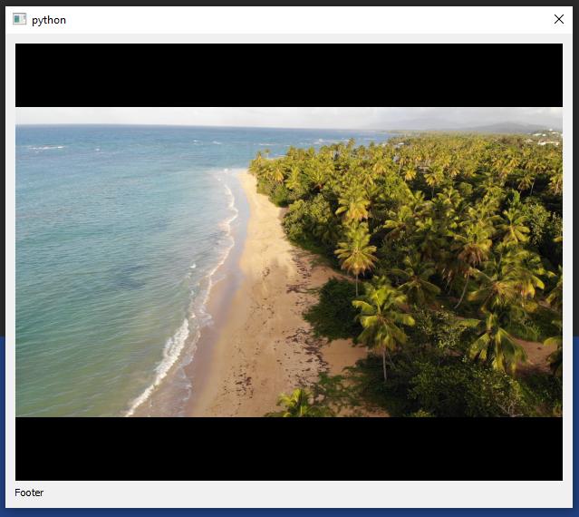 Image of working QMediaPlayer in Windows